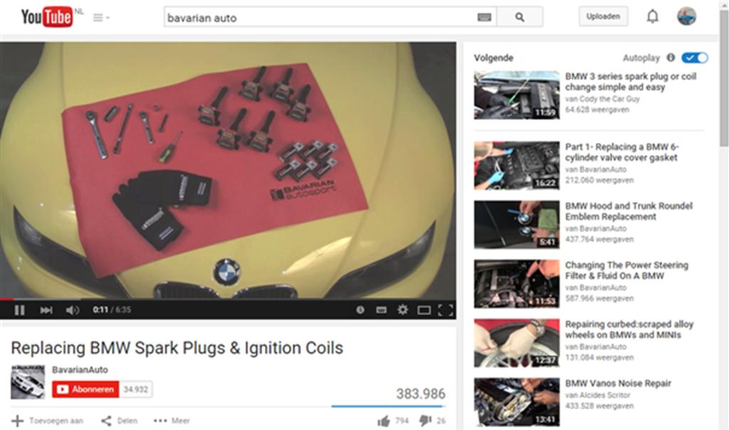 BavarianAuto heeft uitstekend Doe-het-zelf video. Met zorg gemaakt en helder qua inhoud.